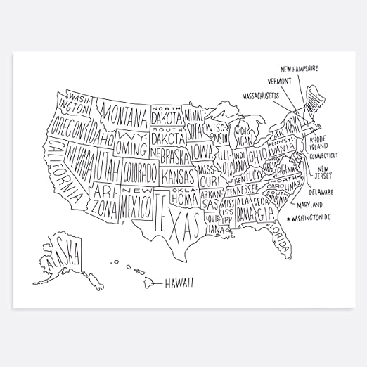 Easy Tiger World Map. Amazon com  Easy Tiger Quality Art Print Black and White Hand Lettered World Map 36x24 Posters Prints