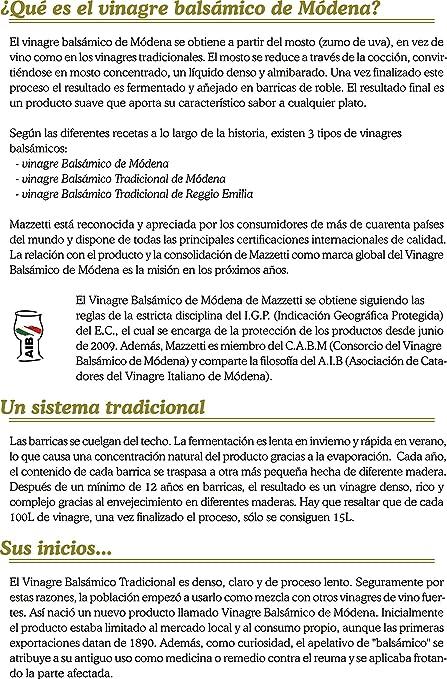 Amazon.com : Mazzetti Cremoso Balsamico-Creme 215 ml : Grocery & Gourmet Food