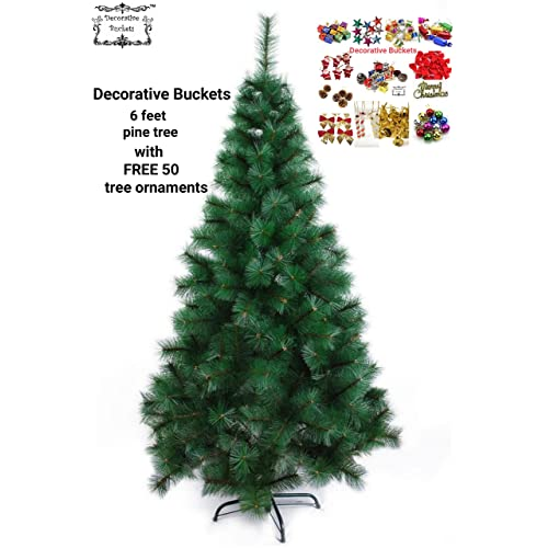 decorative buckets christmas tree 6 feet pine tree christmas 6 feet christmas pine