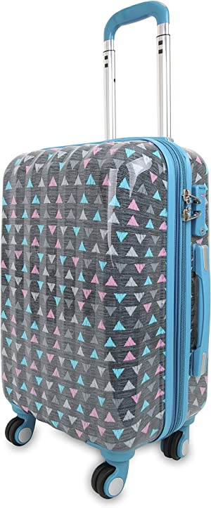 J World New York Art Polycarbonate Carry-On Luggage, Sprinkle, One Size