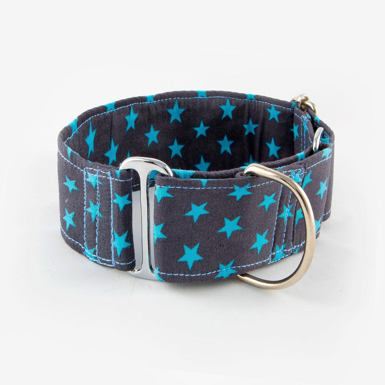 Collar Martingale para perros Galguita Amelie con estrellas