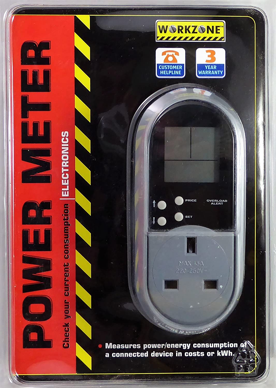 Power Consumption Meter by Workzone (Grey) Globaltronics