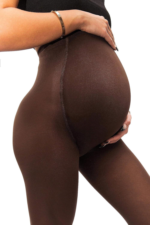 sofsy Collants de maternité opaque Ensemble de soutien super confortable pour tous les stades de la grossesse 50 Den [fabriqué en Italie]