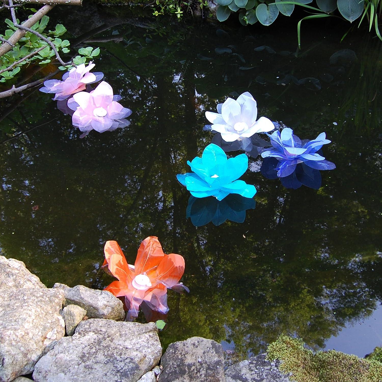 Amazon Lumabase 56006 6 Count Floating Lotus Paper Lanterns