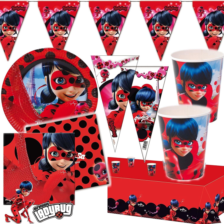 6 Bolsas de Fiesta * Lady Bug * Cumpleaños para niños o ...
