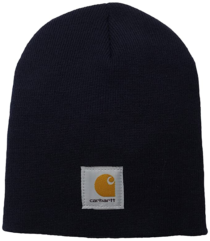 27b022d9fe2fa3 Carhartt Men's Acrylic Knit Hat, Black, One Size at Amazon Men's Clothing  store: Skull Caps