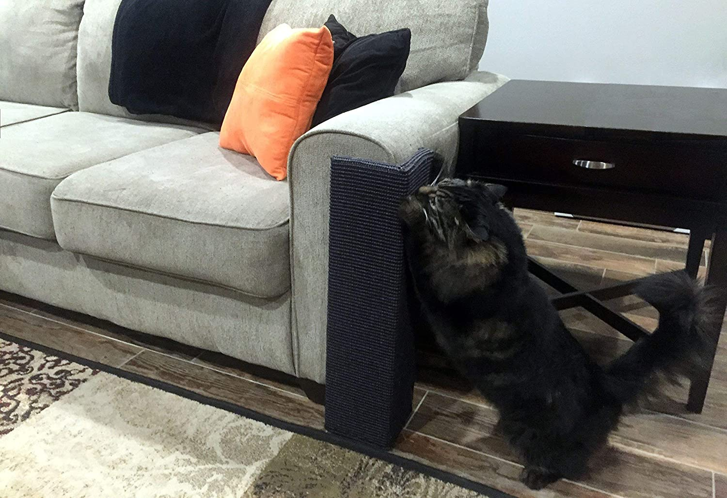 Sofa-Scratcher Squared' Cat Scratching Post & Couch-Corner/Furniture Protector (Charcoal) : Pet Supplies