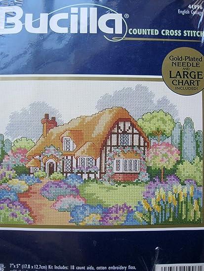 Amazon.com: Inglés Cottage – Kit de punto de cruz: Arte ...