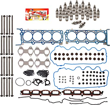 Lifters Head Bolts Domestic Gaskets HSHBLF8-21200 Lifter Replacement Kit fits 04-06 Ford Expedition F Series Lincoln 5.4 TRITON Head Gasket Set