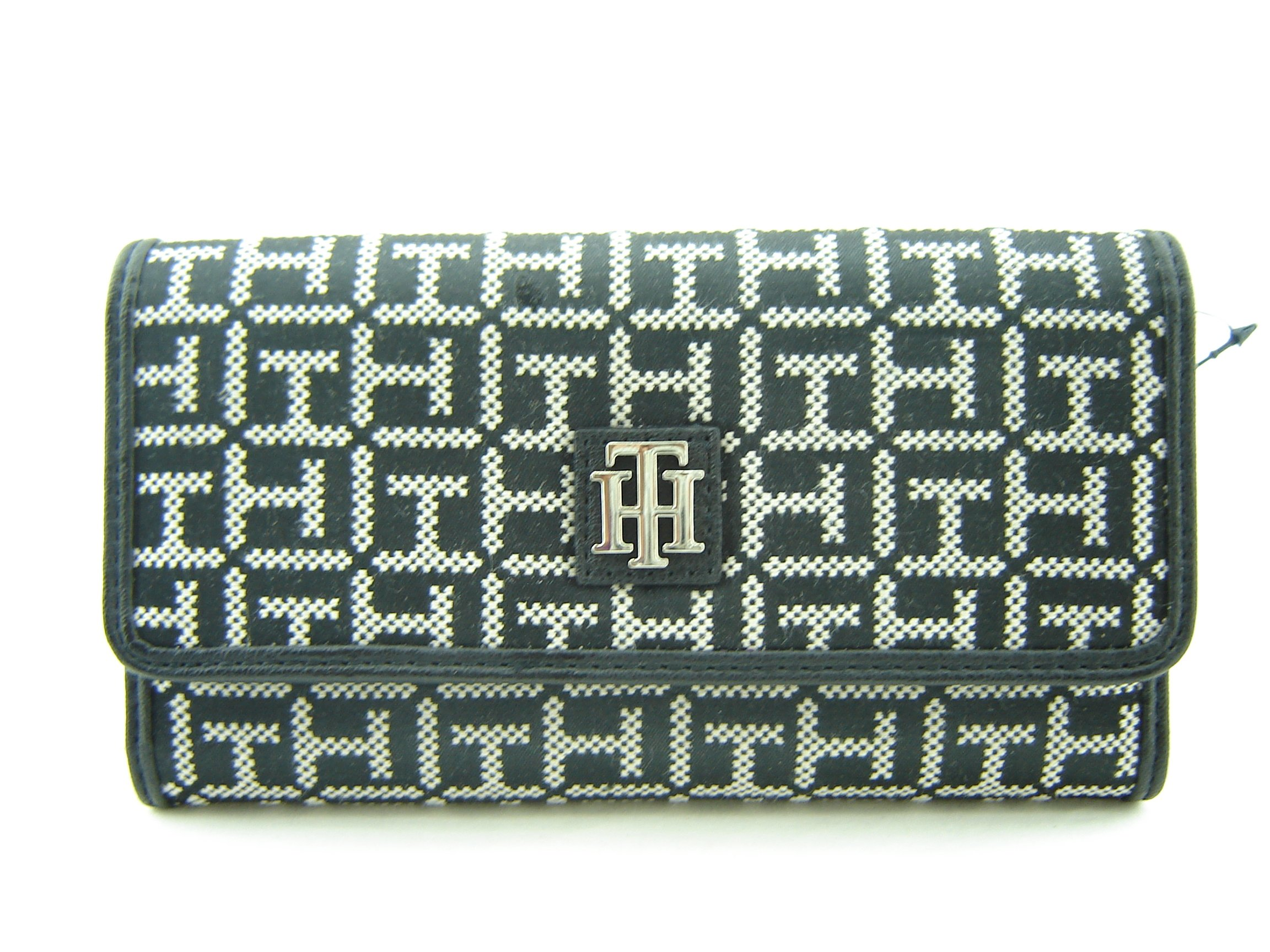 Tommy Hilfiger Logo Women's Wallet Clutch Bag - Black / White