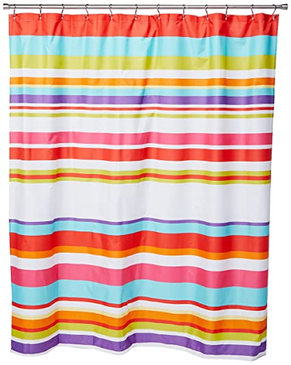 Famous Home Fashions Candy Stripe Shower Curtain