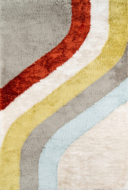 "Novogratz Retro Collection Classic Shag Area Rug, 2'0"" x 3'0"", Multicolor"