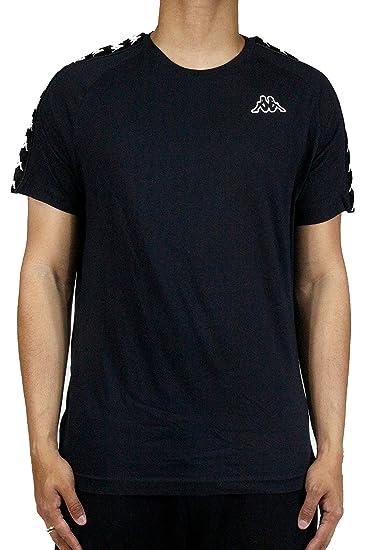 Kappa 222 Banda Slim Camisetas Para Hombre Negro 303UV10 (XXL)