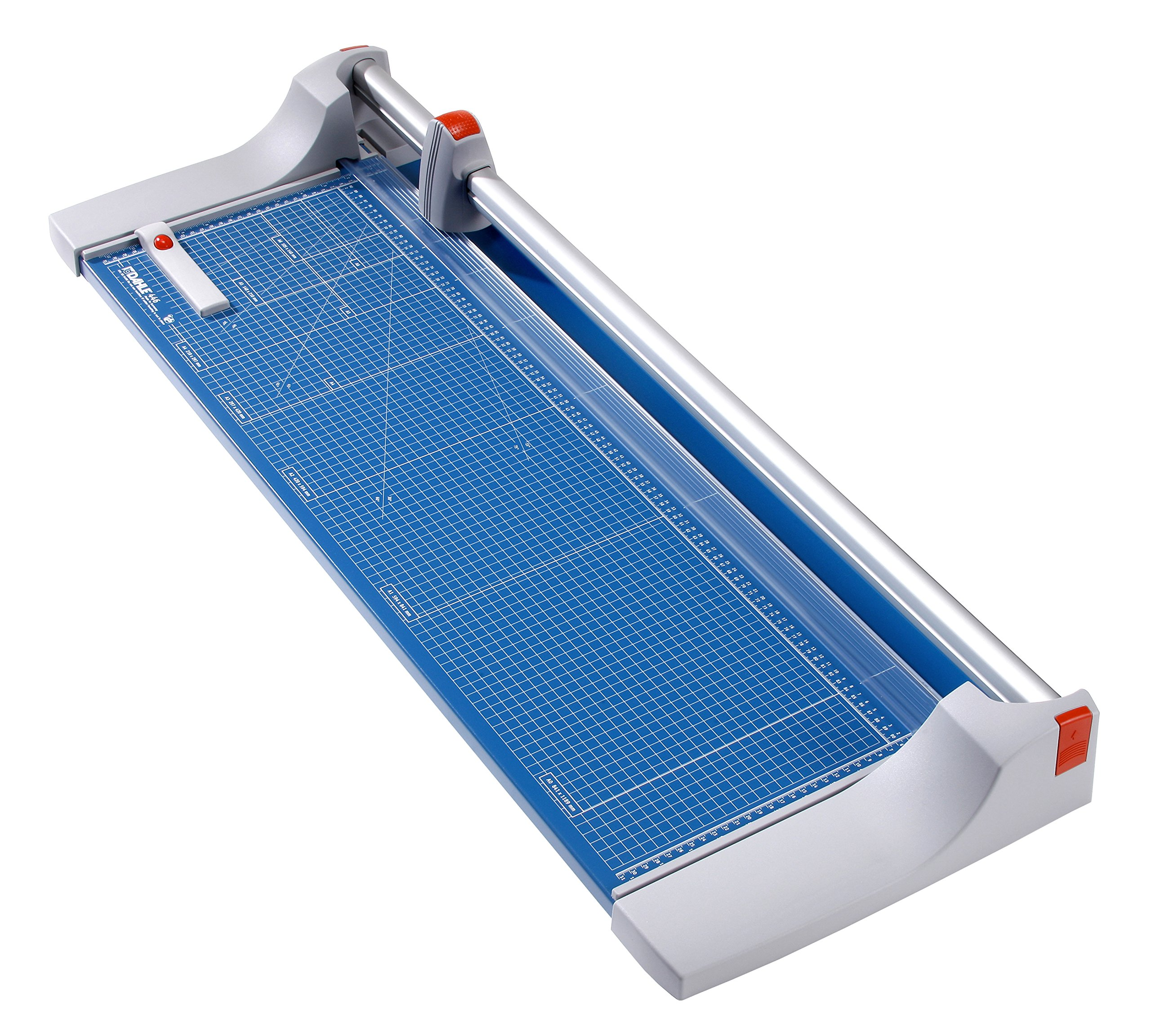 Dahle 446 Premium Rolling Trimmer, 36-1/8'' Cut Length, 25 Sheet Capacity, Self-Sharpening, Automatic Clamp, German Engineered Paper Cutter