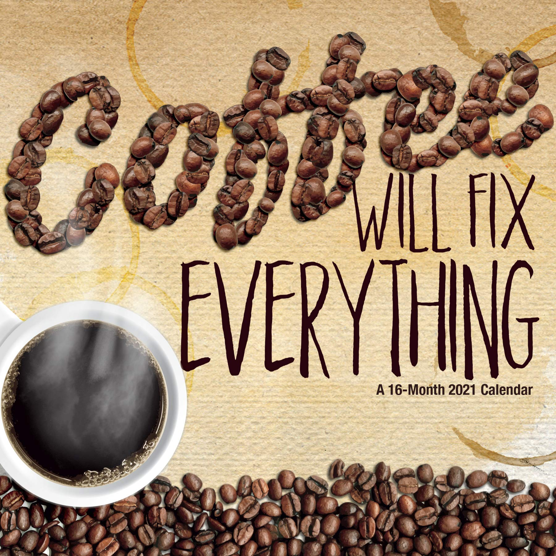 Coffee Calendar 2021 Wallpaper