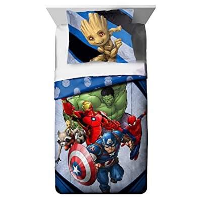 Marvel's Avengers 'Fight Club' 2 Piece Twin/Full Comforter and Sham Set, Kid's Bedding: Home & Kitchen