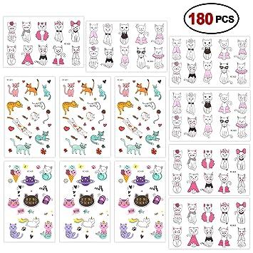 Konsait Tatuajes Temporales para Niños Niñas Mujeres (180 ...