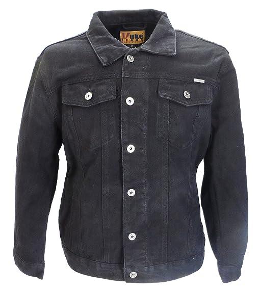 Mens Duke Black Denim Jacket: Amazon.co.uk: Clothing