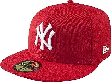 MLB Yankees de Nueva York con blanco 59FIFTY gorra ajustada 40850eeddc9