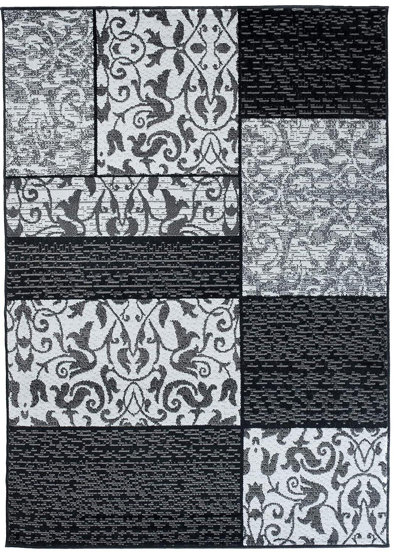 Tapiso Tapiso Tapiso Fire Teppich Modern Kurzflor Viereck Wellen Abstrakt Muster Weiss Grau Schwarz Designer Wohnzimmer 250 x 350 cm B07H7HD5WL Teppiche a5751d
