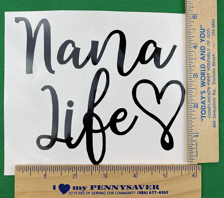 Nana Life Black Vinyl Car Decal New Gift
