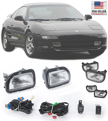 Amazon.com: 91-95 Toyota MR2 W20 Front Bumper Fog Light Clear Glass Lens Harness Switch 1991 1992 1993 1994 1995: Automotive
