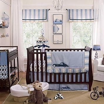 Amazon.com: Luca 4 piezas juego de cama de bebé cuna por ...