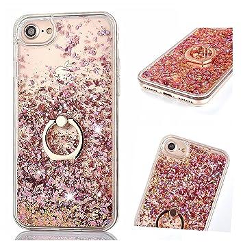 Flüssig Hülle für iPhone 6 / iPhone 6S, ZCRO Handyhülle Case Schutz Hülle Glitzer Flüssig Cover Transparent Silikon Rahmen Hü