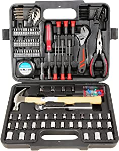 MECHMAX Home Repair Tool Set 149 Piece with Storage Case for Home, Office, Household, Garage, Apartment, Dorm, New House, College, Back to School, Bike, Basic Projects, and as A Gift