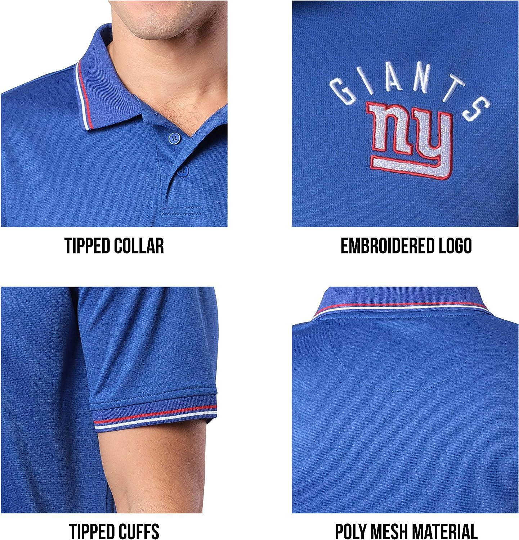 Ultra Game NFL Men's Moisture Wicking Tech Polo Shirt : Clothing