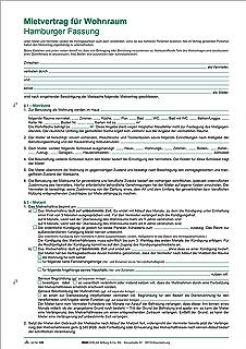 Mietvertrag Für Wohnraum Hamburger Fassung 6 Seiten Gefalzt Auf