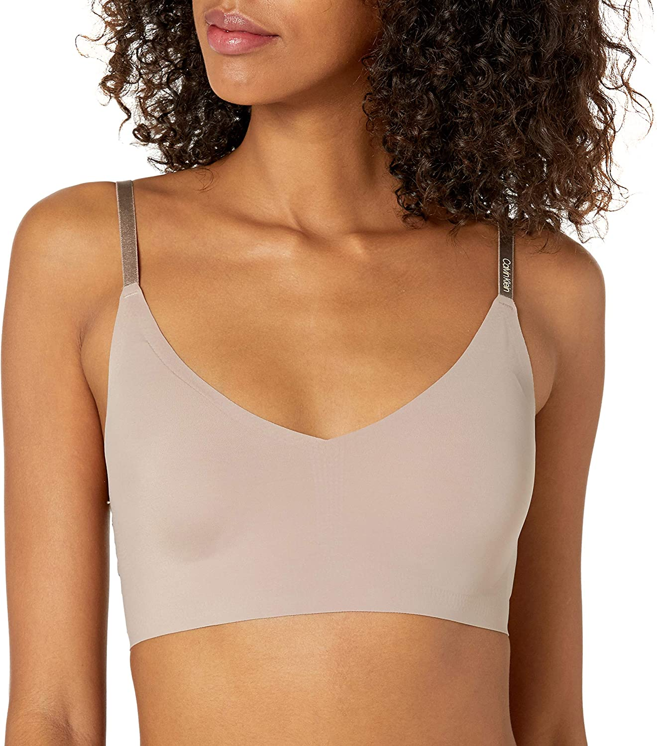 Calvin Klein Women's Invisibles Comfort Seamless Wirefree Lightly Lined Triangle Bralette Bra at  Women's Clothing store