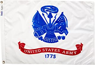 product image for Annin Flagmakers Model 439033 U.S. Army Military Flag Nylon SolarGuard NYL-Glo, 2x3 ft, 100% Made in USA to Official Specifications. Officially Licensed