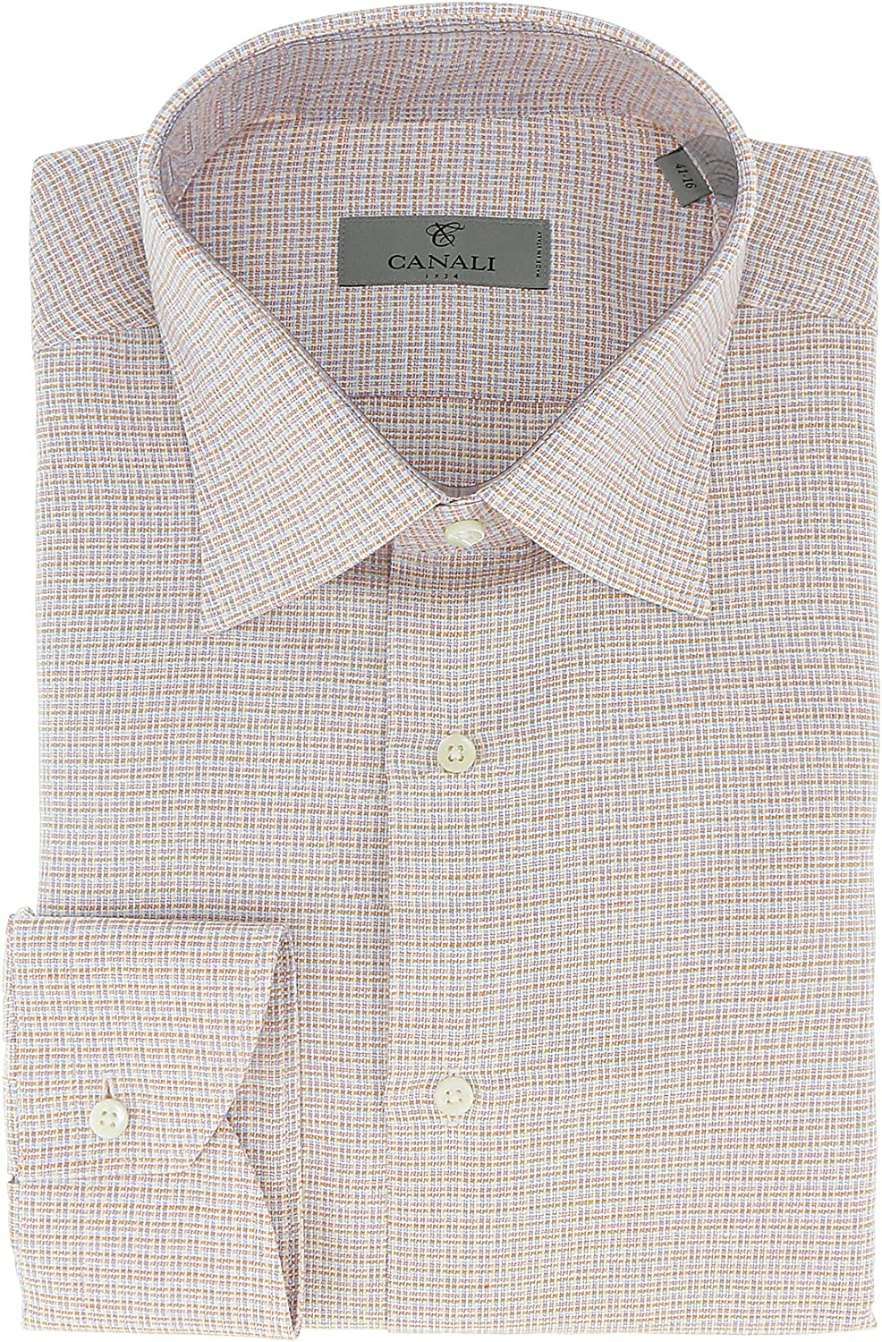 Canali Blue//Grey Tatterstall Check Formal Shirts