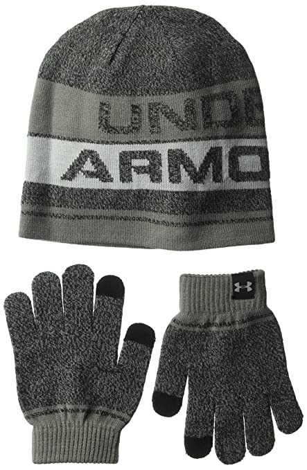 b75be7bc258ce Amazon.com  Under Armour Boys  Beanie Glove Combo 2.0  Sports   Outdoors