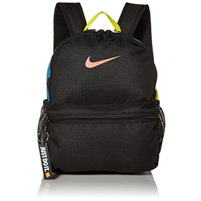 "Nike Kids' Nike Brasilia ""just Do It"" Backpack (mini), Black/Black/(Magic Ember), Misc: Clothing"