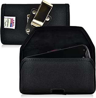 product image for Turtleback Belt Clip Case Compatible with Kyocera DuraForce PRO E6810 E6820 E6830 Black Holster Nylon Pouch with Heavy Duty Rotating Belt Clip Horizontal Made in USA