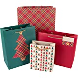 Hallmark Christmas Gift Bag Traditional Design - Pack of 4 (Mixed Sizes)
