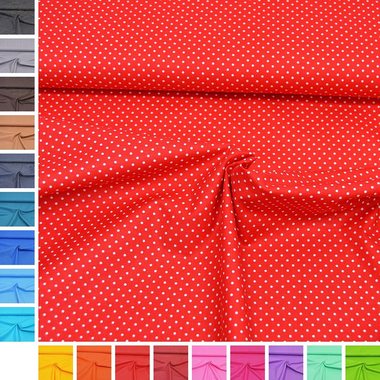 'Tessuto di cotone Amelie puntini/100% cotone/migliore qualità Oeko-Tex/metraggio AB 50cm/FX 02. Rot MAGAM-Stoffe