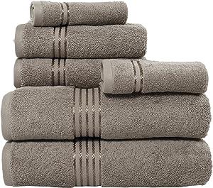 Lavish Home 100% Cotton Hotel 6 Piece Towel Set - Taupe