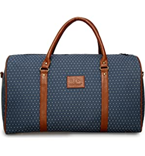5b09e2a37a3 The Clownfish Tapestry Faux Leather 1200 Cms Vintage Light Blue Soft Travel  Duffle bag