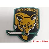 Metal Gear Solid Snake Game Fox Hound Special Forces MGS Iron On Parche Bordado Velcro