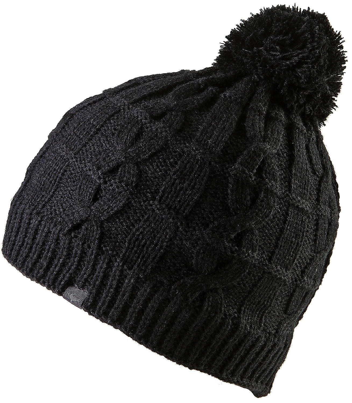 Sealskinz Cable Knit Bobble Beanie Hat - Black 541c657f8529