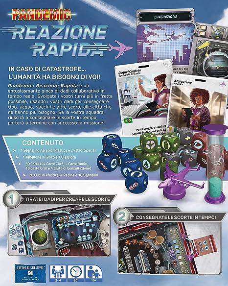 Asmodee Italia Pandemic Reacción rápida Juego de Mesa en Tiempo Real, Color, ZM011IT: Amazon.es: Juguetes y juegos