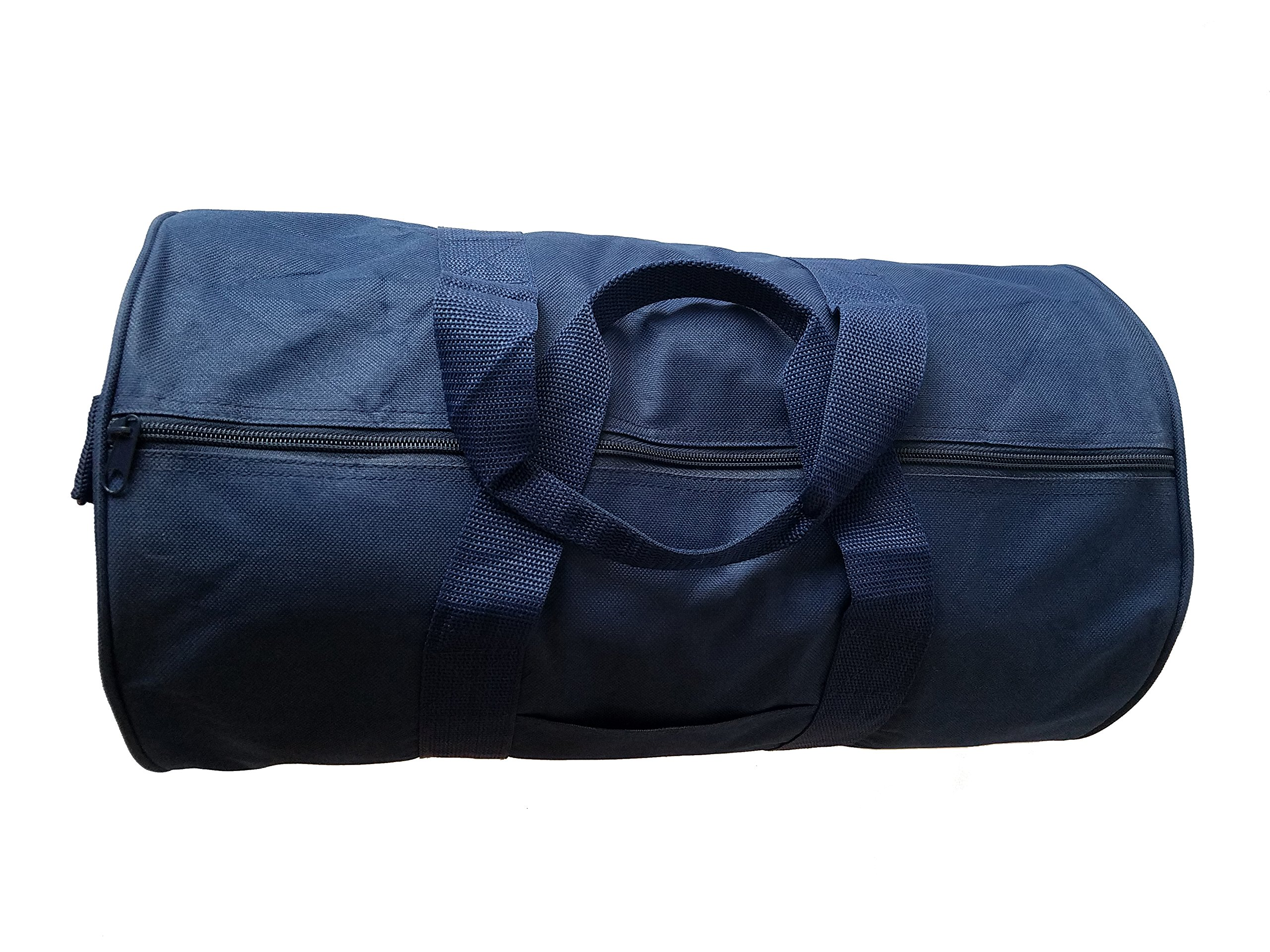 ImpecGear Round Duffel Sports Bags, Travel Gym Fitness Bag. (Navy) by ImpecGear (Image #4)