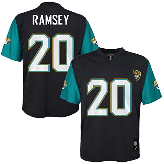 Outerstuff Jalen Ramsey Jacksonville Jaguars  20 Black Youth Mid Tier Home  Jersey (Large 14 40df1a37b