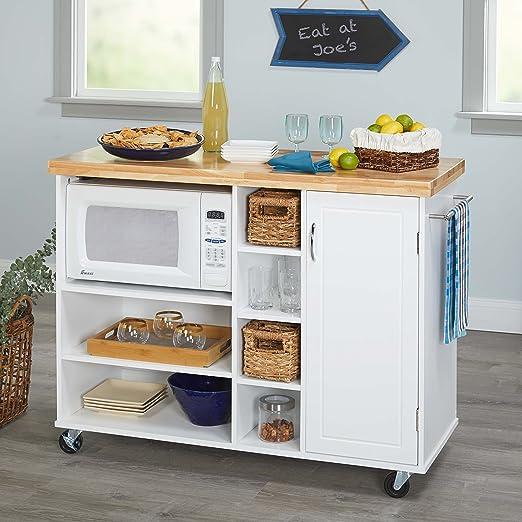 Amazon.com - Kitchen Islands on Wheels Microwave Cart ...