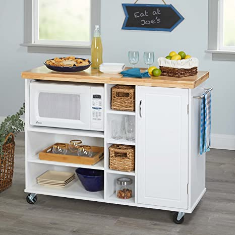 Amazon.com - Kitchen Islands on Wheels Microwave Cart ...