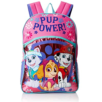 """Paw Patrol Little Girls Pup Power! 16"""" Backpack, Pink, 16"""