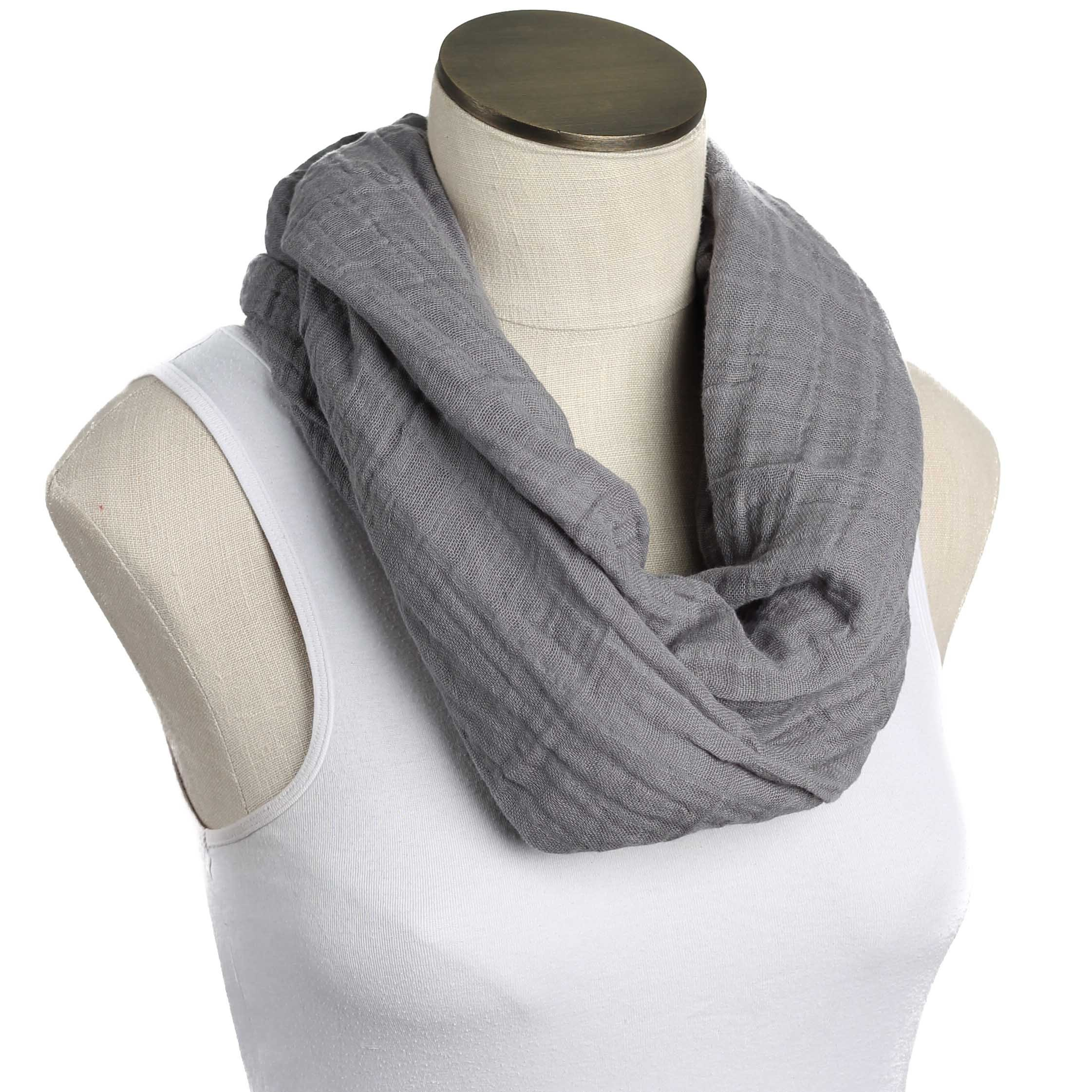 --SALE--Hold Me Close Muslin Double Gauze Nursing Scarf (Solid Graphite) by Hold Me Close